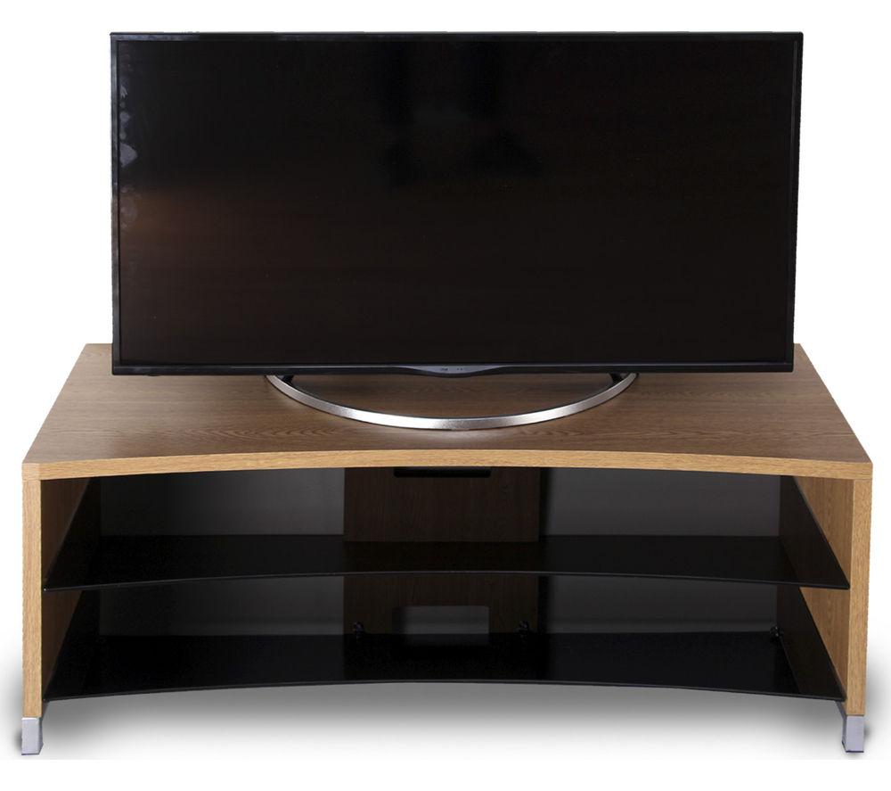 TTAP Paris Curve 1300 TV Stand - Oak