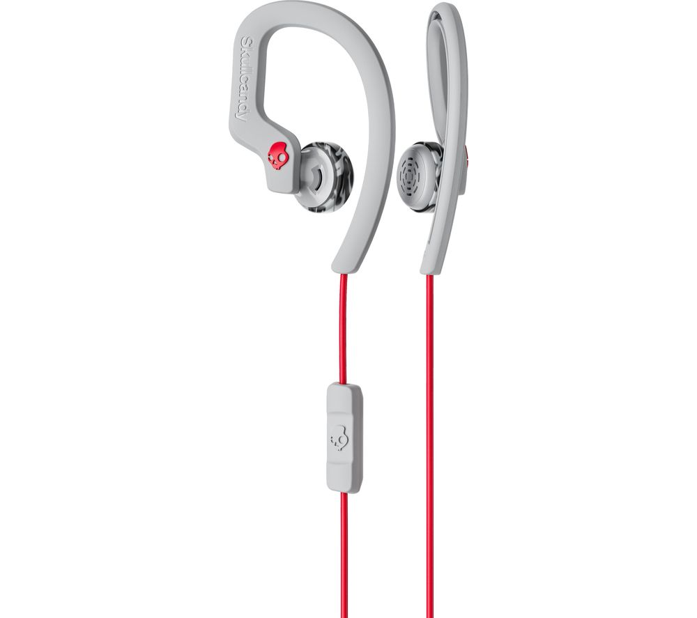 Skullcandy Skullcandy Chops Flex Headphones  Grey & Red Grey