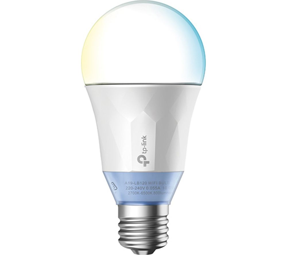 TP-LINK LB120 Smart WiFi LED Bulb with Tunable White Light - E27 with B22 Adapter