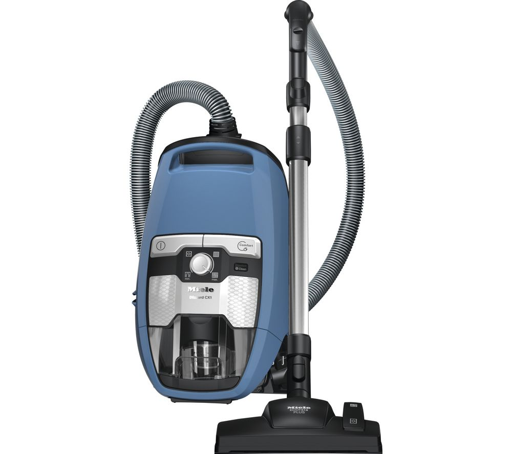 Image of MIELE Blizzard CX1 PowerLine Cylinder Bagless Vacuum Cleaner - Blue, Blue