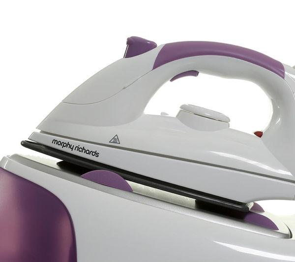 morphy richards steam gen diamond steam generator iron purple. Black Bedroom Furniture Sets. Home Design Ideas