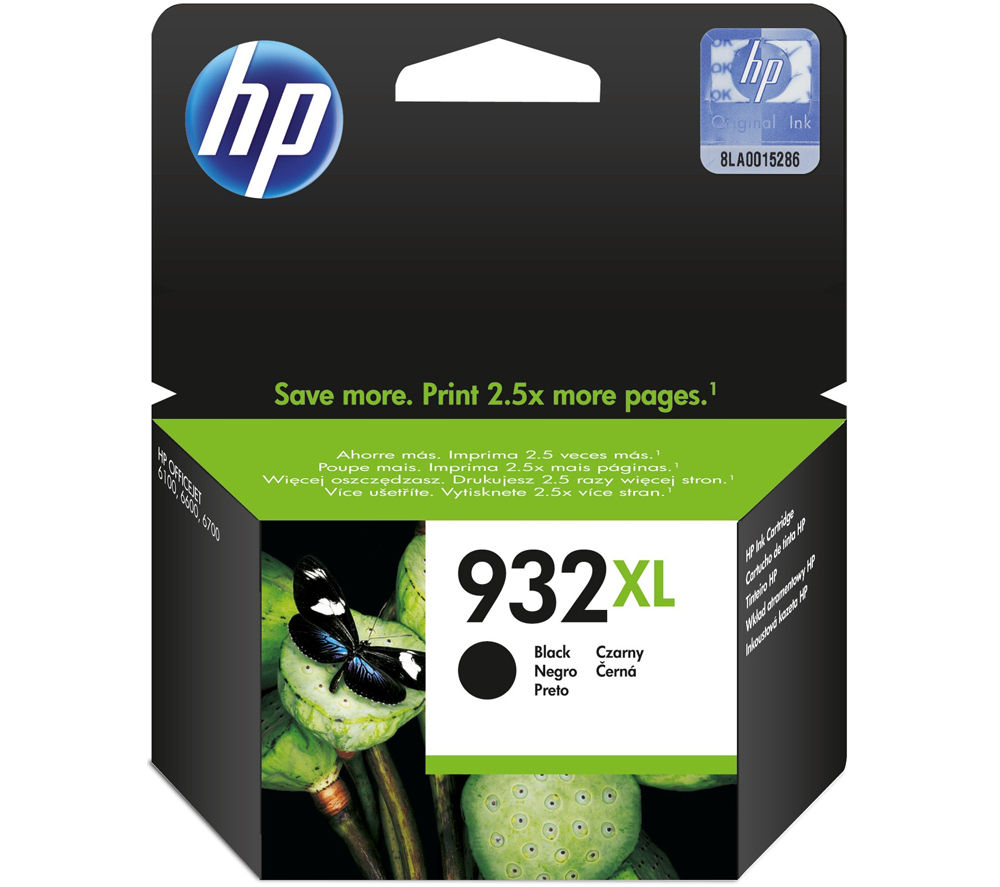 hp 932xl black ink cartridge deals pc world. Black Bedroom Furniture Sets. Home Design Ideas