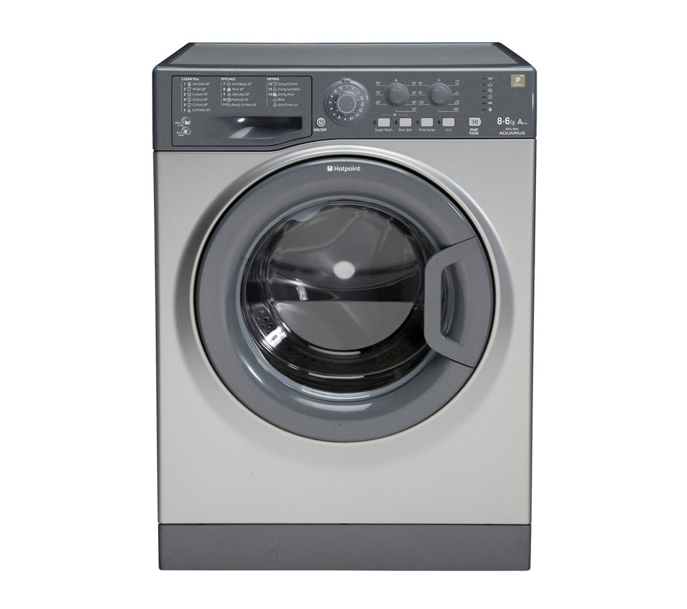 HOTPOINT  WDAL9640G Washer Dryer - Graphite +  SISML21011P Slimline Dishwasher - White