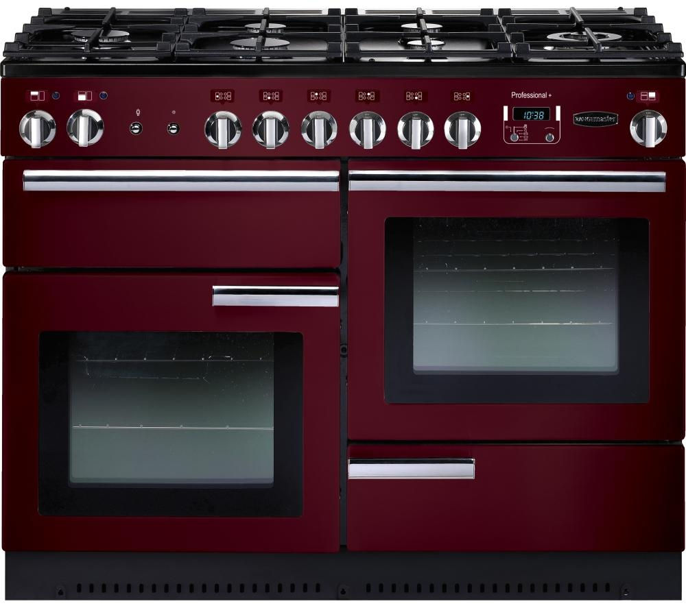 RANGEMASTER Professional+ 110 Gas Range Cooker - Cranberry & Chrome
