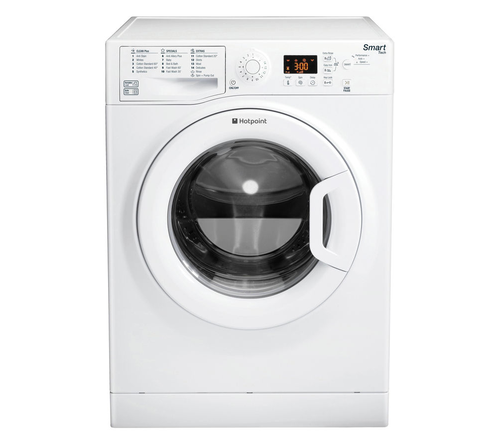 HOTPOINT Smart WMFUG842P Washing Machine - White