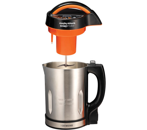 501012 Soup Maker  Stainless Steel & Orange  Free Delivery  Currys