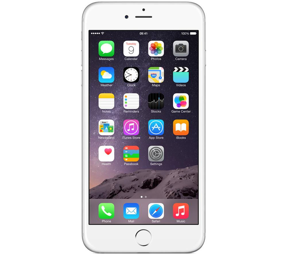 Apple iPhone 6 Plus - 16GB, Silver, Silver