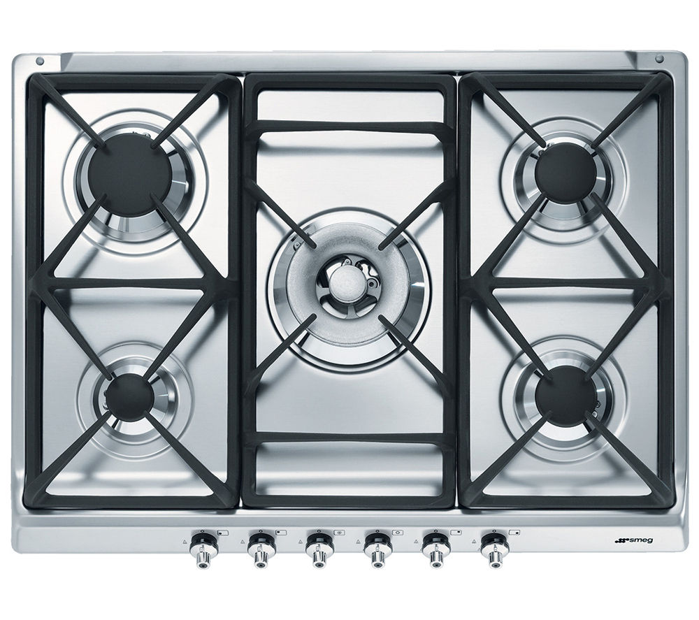 buy smeg classic se70sgh 5 gas hob stainless steel On table gaz 6 feux