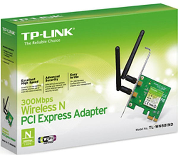 Image of TP-LINK TL-WN881ND PCIe Wireless Card