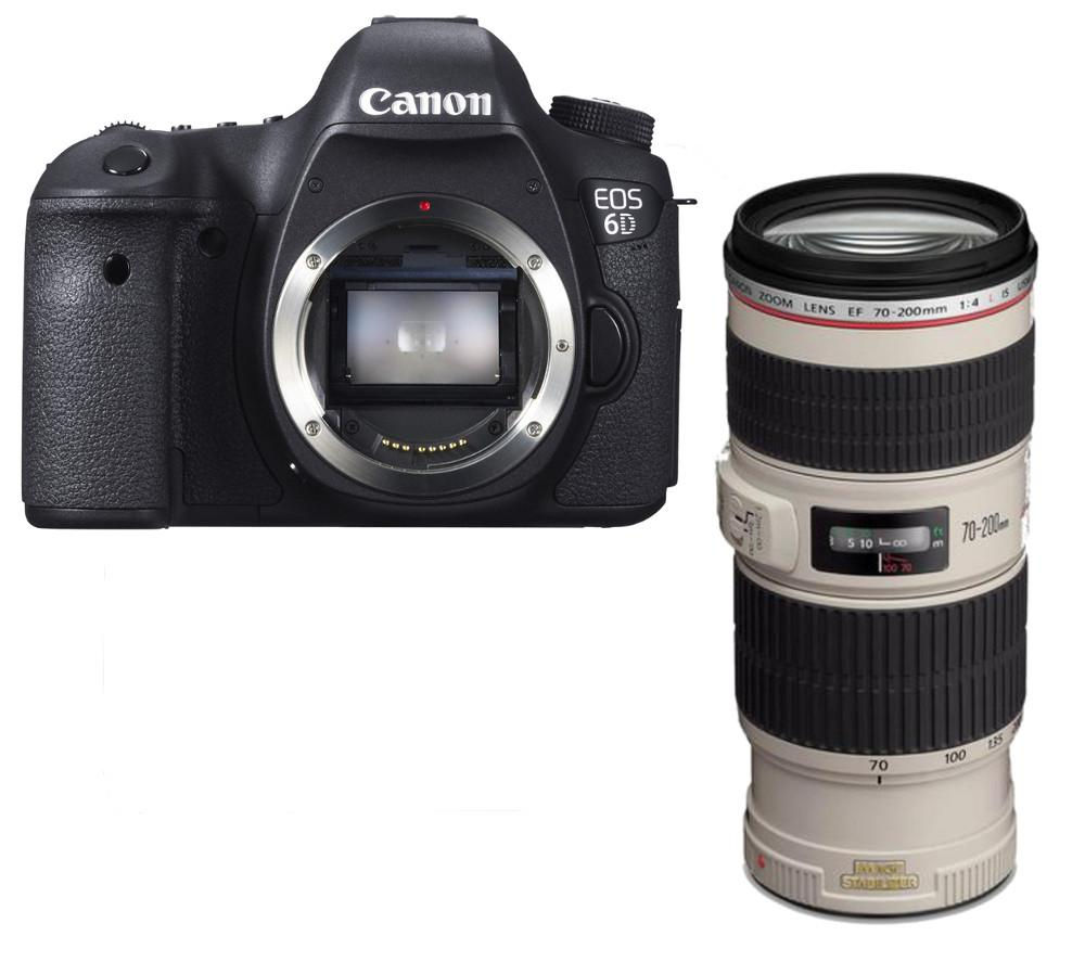 buy canon eos 6d dslr camera with ef 70 200 mm f 4 usm is telephoto zoom lens free delivery. Black Bedroom Furniture Sets. Home Design Ideas
