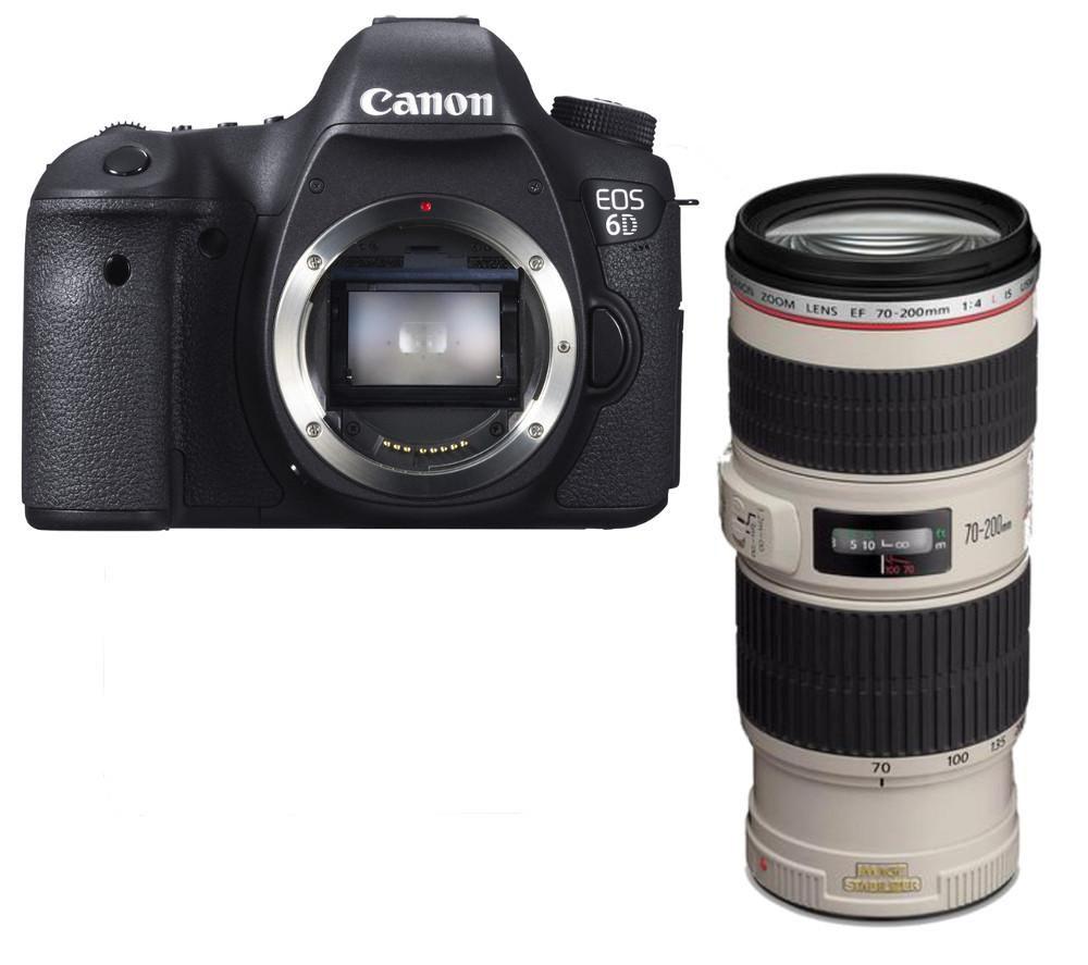buy canon eos 6d dslr camera with ef 70 200 mm f 4 usm is. Black Bedroom Furniture Sets. Home Design Ideas