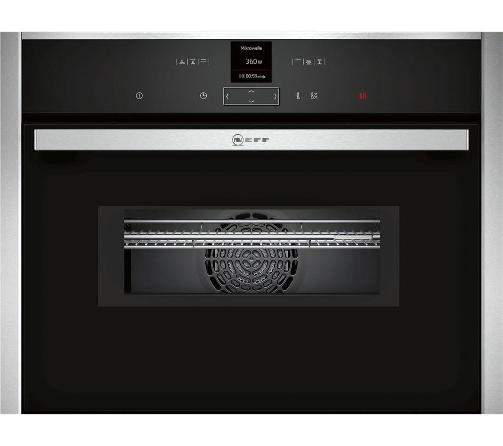 Neff C17MR02N0B Builtin Combination Microwave  Stainless Steel Stainless Steel