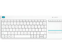 LOGITECH K400 Plus Wireless Keyboard - White