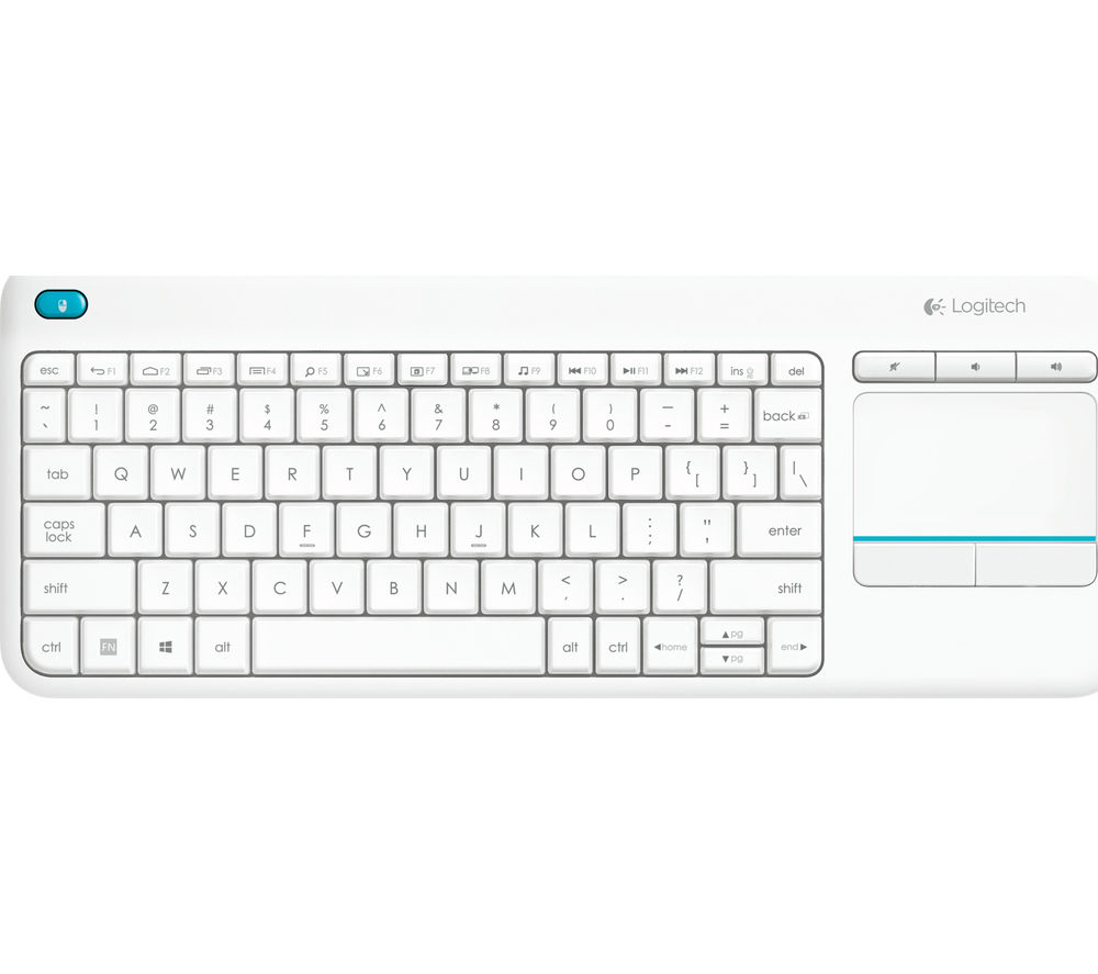 Image of Logitech K400 Plus Wireless Keyboard - White
