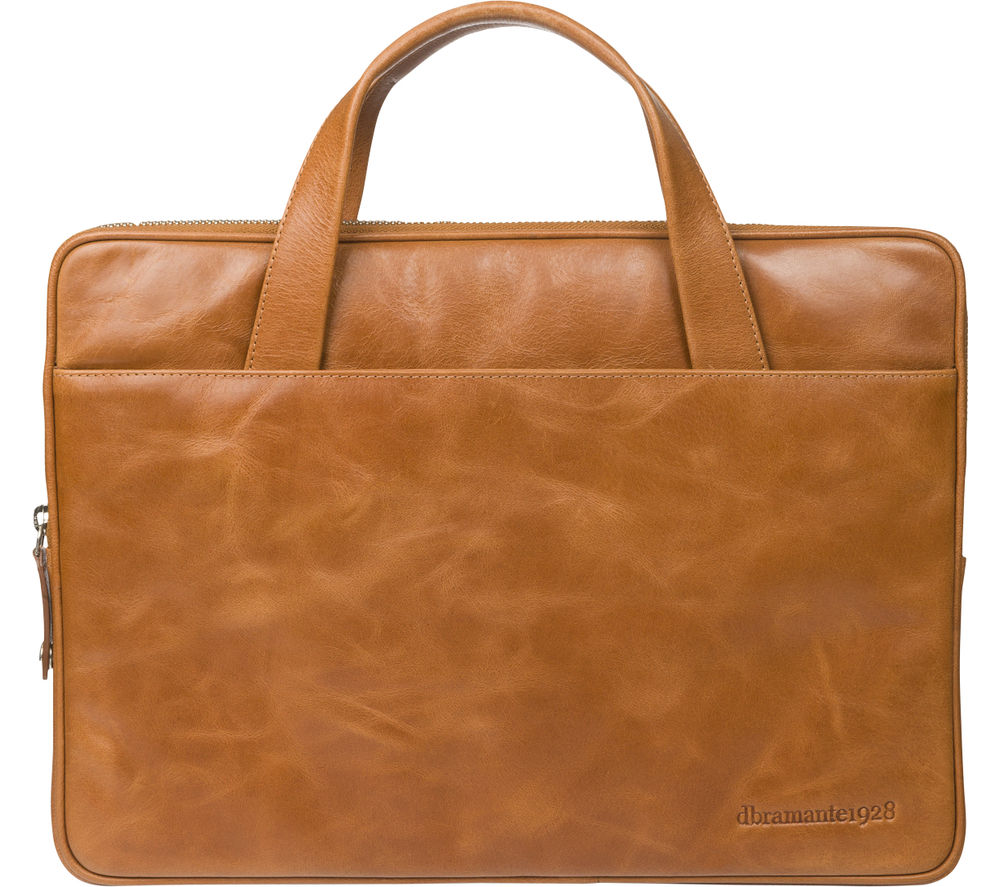 """DBRAMANTE 1928 Silkeborg 13"""" Leather Laptop Case - Tan"""
