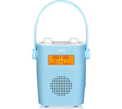 JVC RA-D11-A Portable DAB/FM Bathroom Clock Radio - Blue