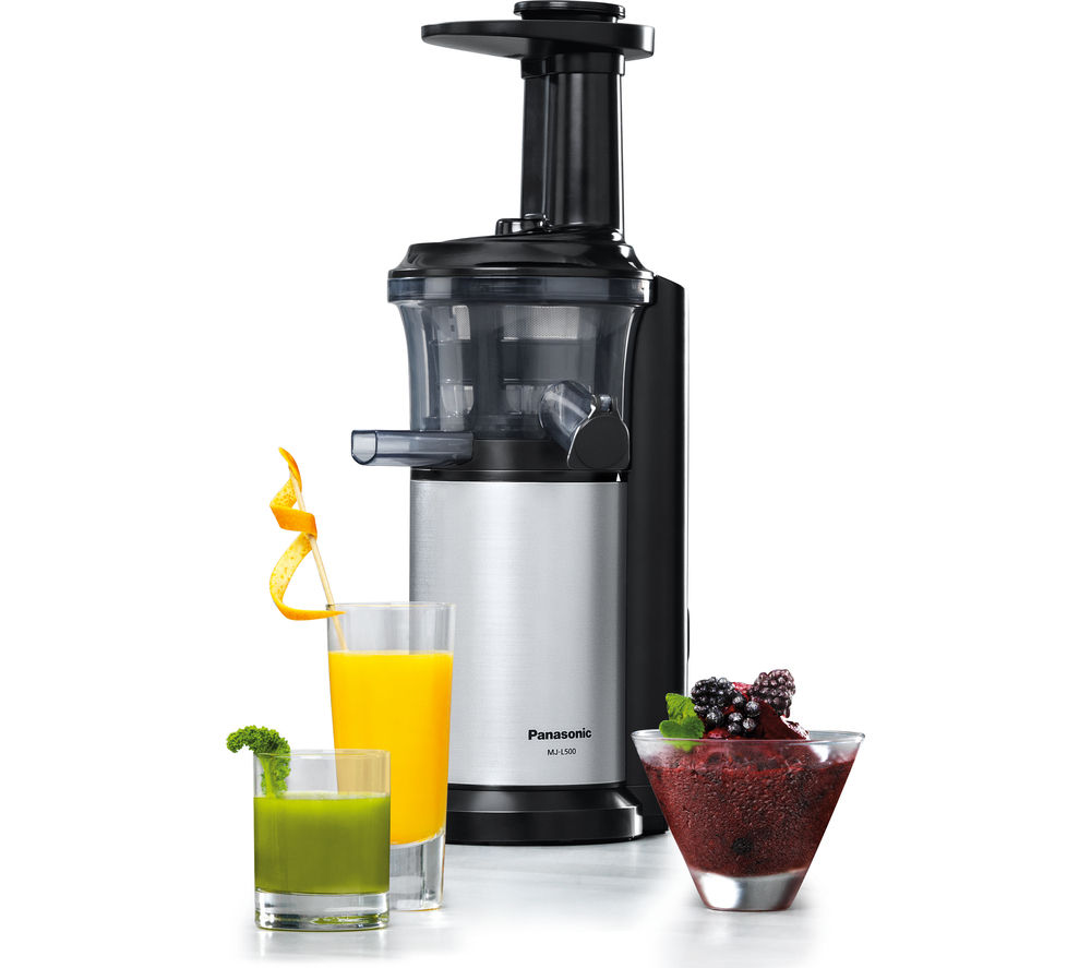 Panasonic Mj L500sxc Slow Juicer With Frozen Sorbet Attachment 150 W : Buy PANASONIC MJ-L500SXC Juicer - Silver Free Delivery Currys