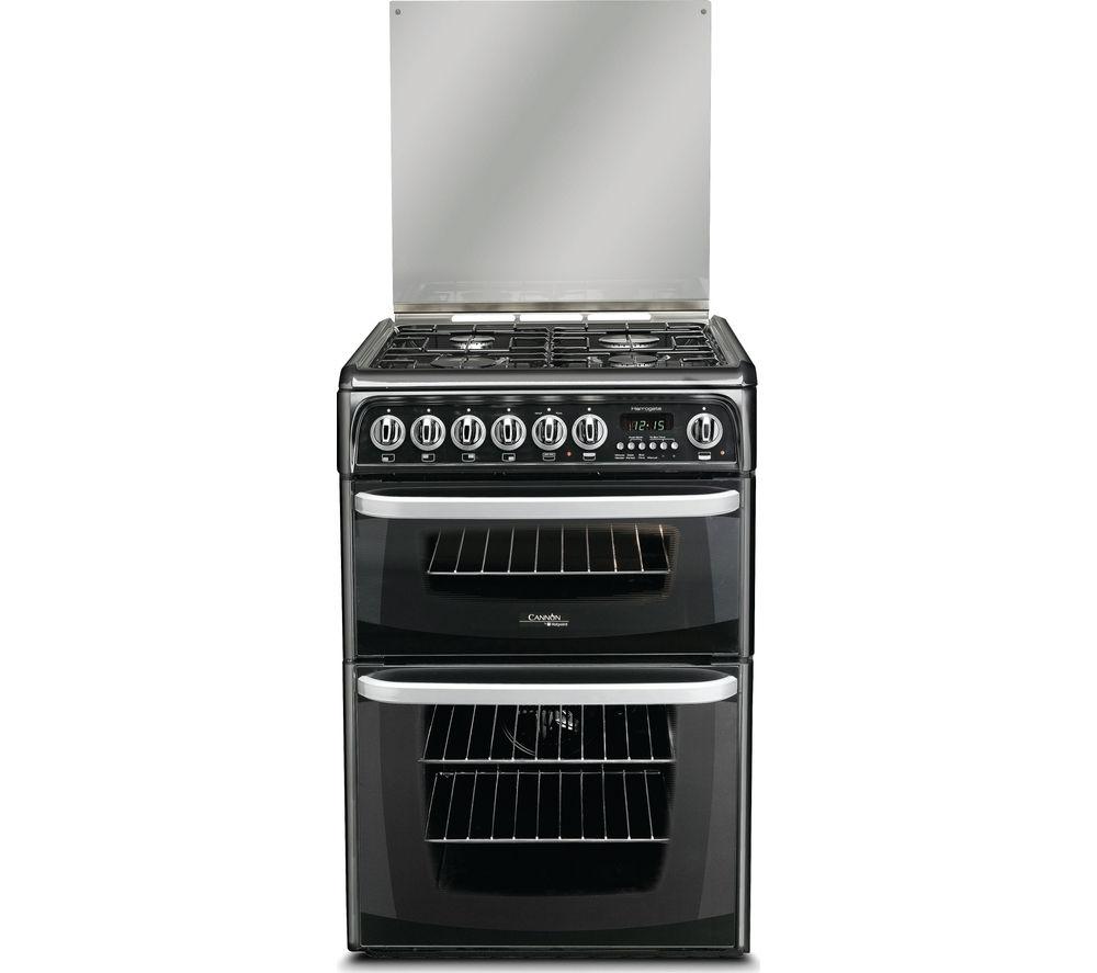 Image of CANNON CH60DHKFS 60 cm Dual Fuel Cooker - Black, Black