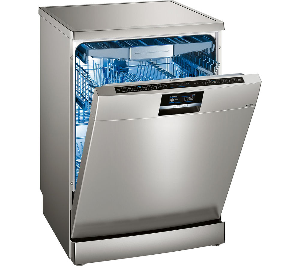 buy siemens iq700 sn278i26te full size smart dishwasher stainless steel free delivery currys. Black Bedroom Furniture Sets. Home Design Ideas