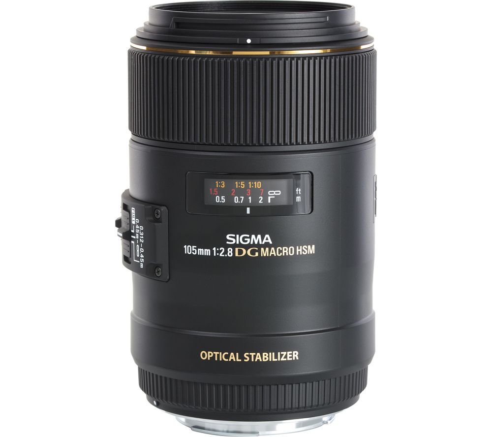 SIGMA 105 mm f/2.8 EX DG HSM Macro Lens - for Canon