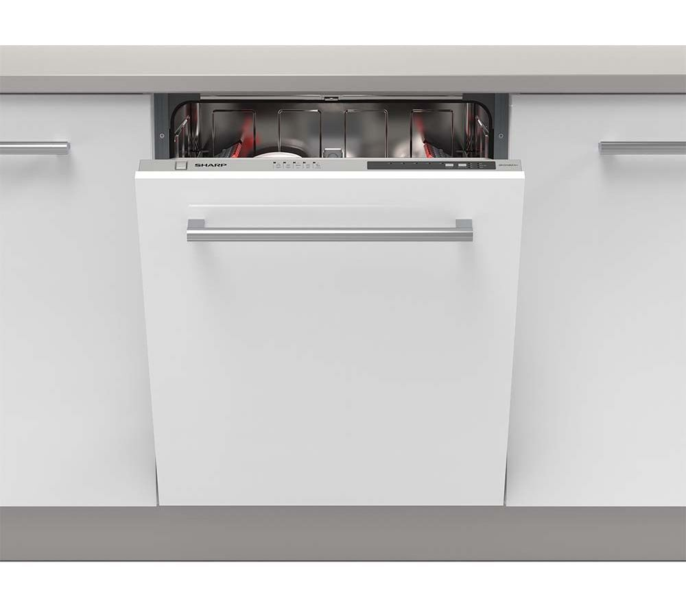 Buy sharp qw d21i492x full size integrated dishwasher Kitchen appliance reviews uk