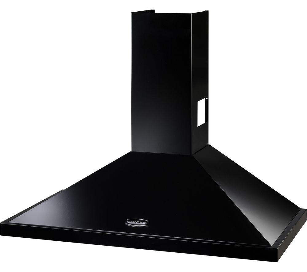 buy rangemaster leihdc60bc chimney cooker hood black. Black Bedroom Furniture Sets. Home Design Ideas