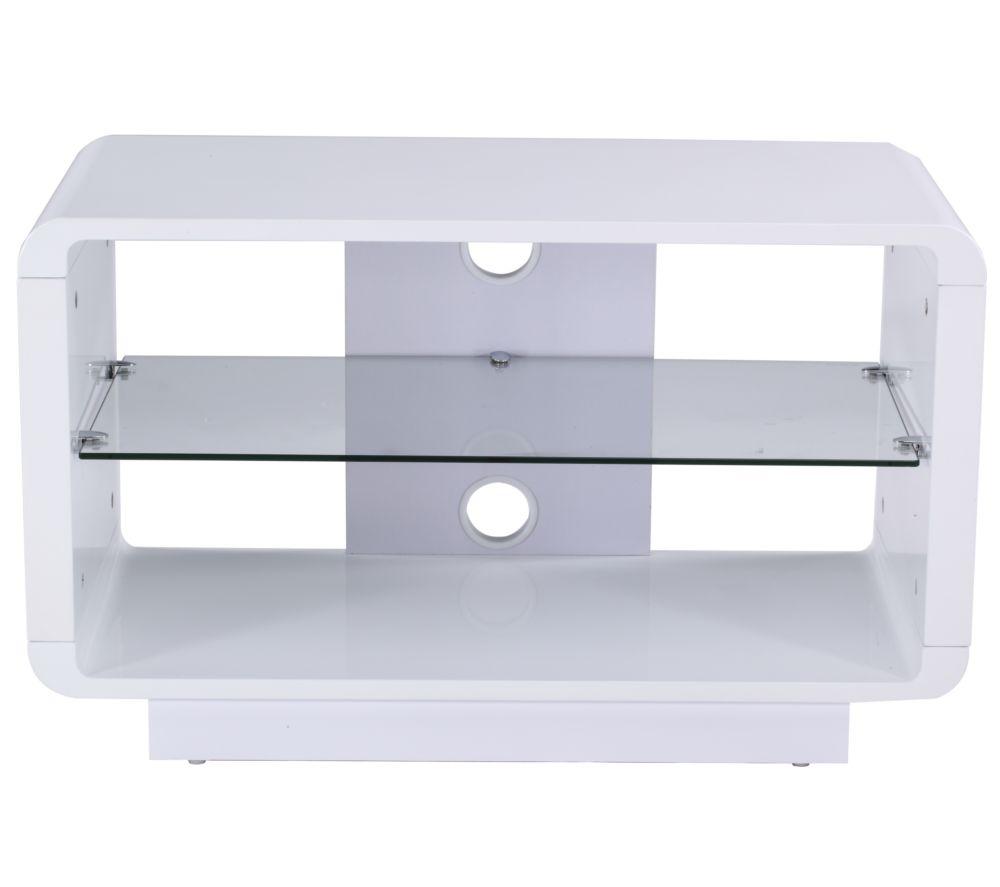 ALPHASON  Luna 800 TV Stand  White White