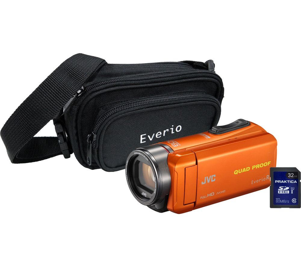 JVC GZ-R435 Camcorder, Bag & 32 GB SD Card Kit - Orange