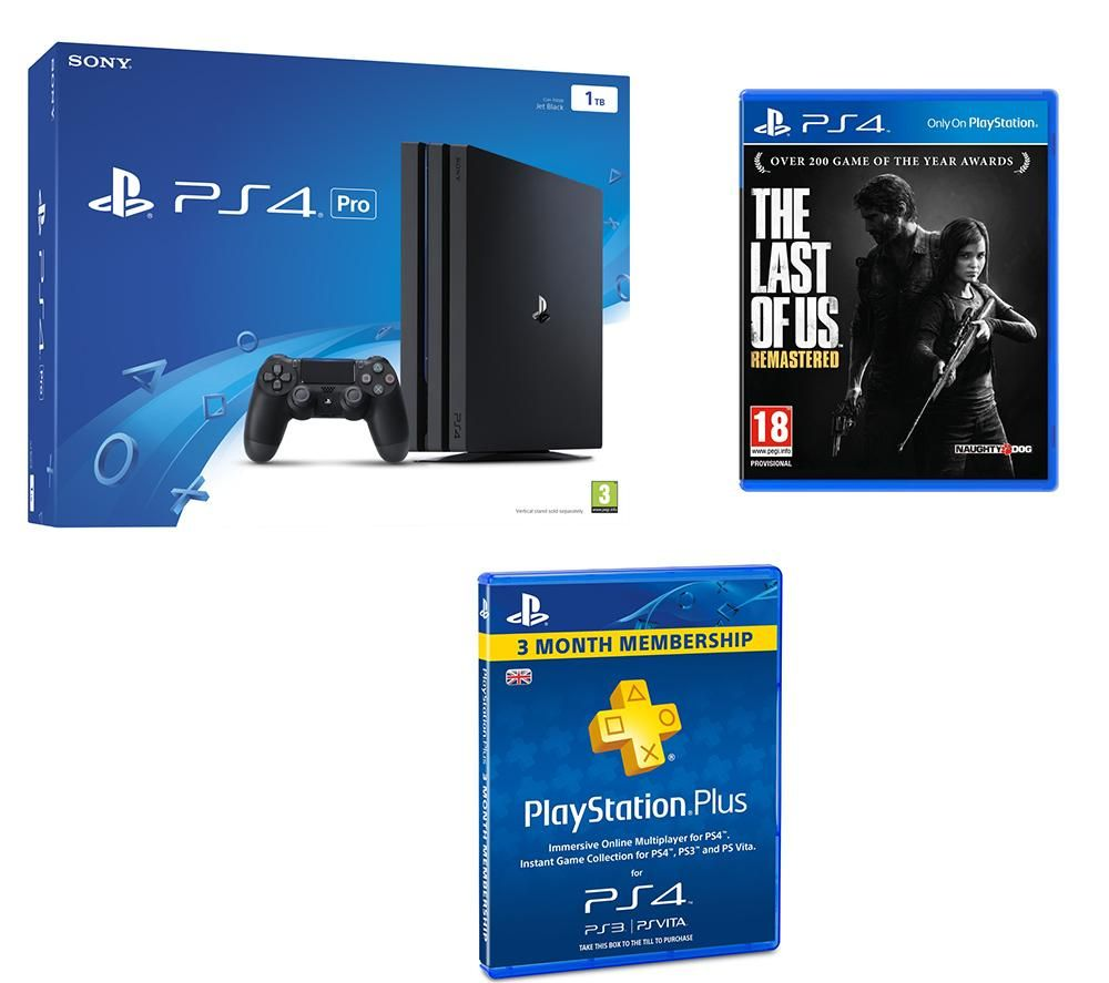 PLAYSTATION 4 Pro The Last of Us Remastered & 3 Month PlayStation Plus Subscription Bundle