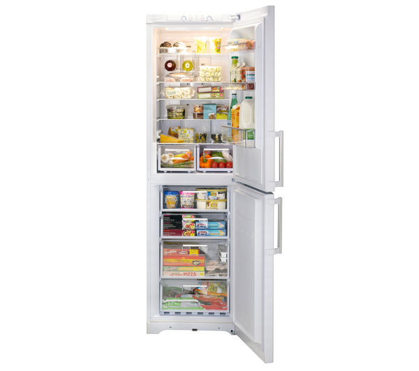 Buy Hotpoint Fufl2010p Fridge Freezer White Free