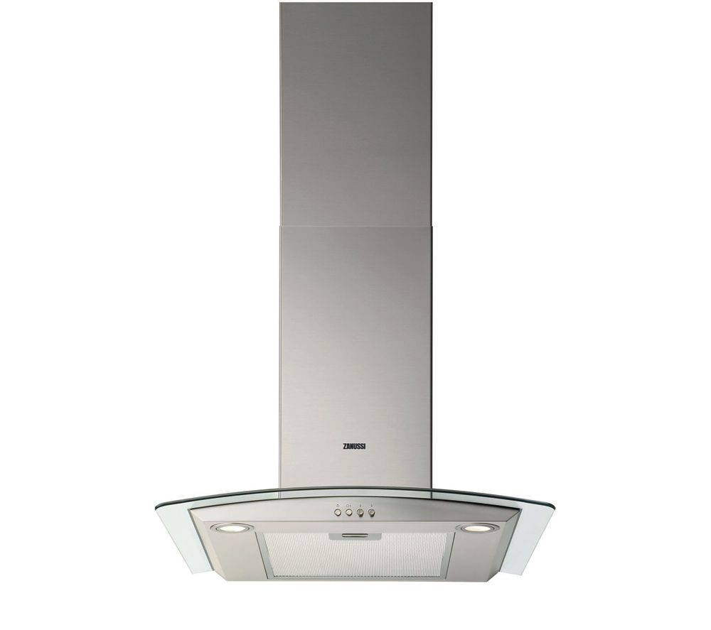 Chimney Hood Product ~ Zanussi zhc chimney cooker hood stainless steel