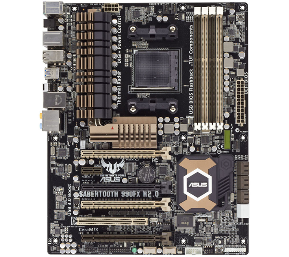 ASUS SABERTOOTH 990FX R2.0 AMD ATX Motherboard - with AM3+ socket