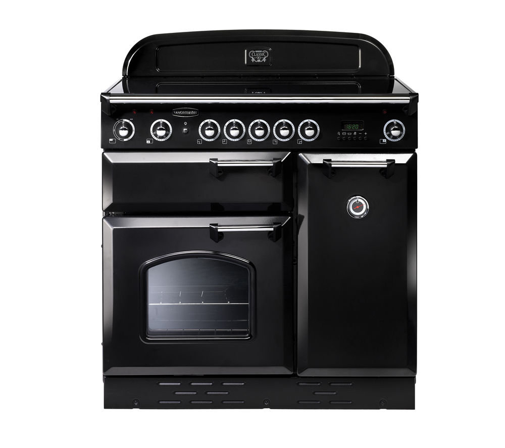 RANGEMASTER Classic 90E Electric Induction Range Cooker - Black