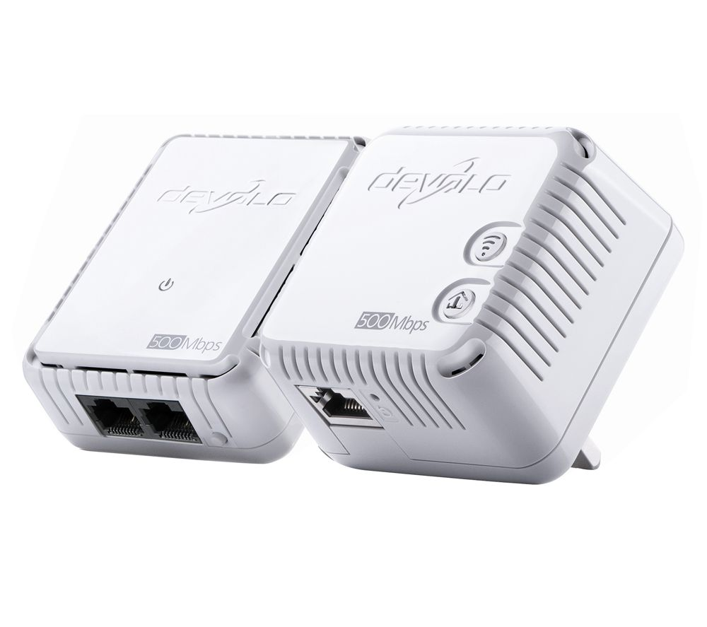 DEVOLO dLAN 500 Wireless Powerline Adapter Kit - Twin Pack