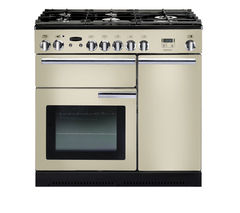 RANGEMASTER Professional+ 90 Gas Range Cooker - Cream & Chrome