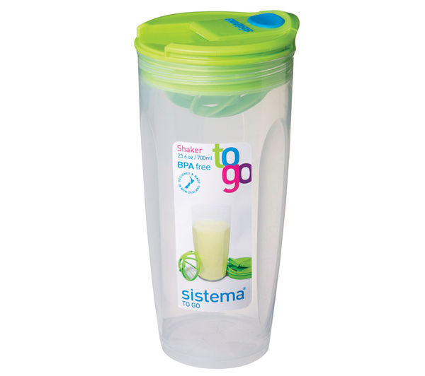 SISTEMA Round 700 ml Shaker To Go