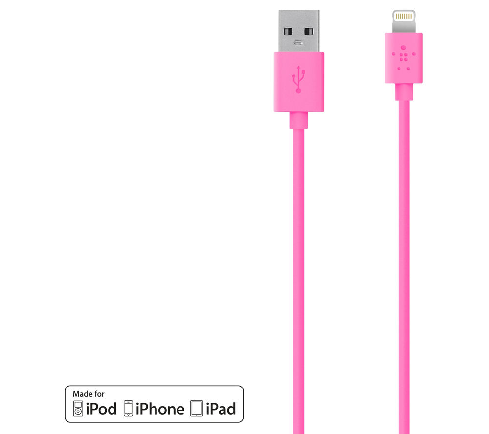 BELKIN F8J023bt04-PNK Charge & Sync Lightning to USB Cable - 1.2 m