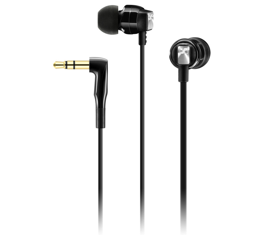 SENNHEISER CX 3.00 Headphones - Black + iPhone 7 Lightning to 3.5 mm Headphone Jack Adapter