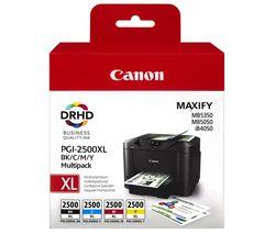 Canon PGI-2500XL Black, Cyan, Magenta & Yellow Ink Cartridges - Multipack