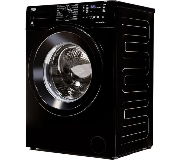 washing machine black