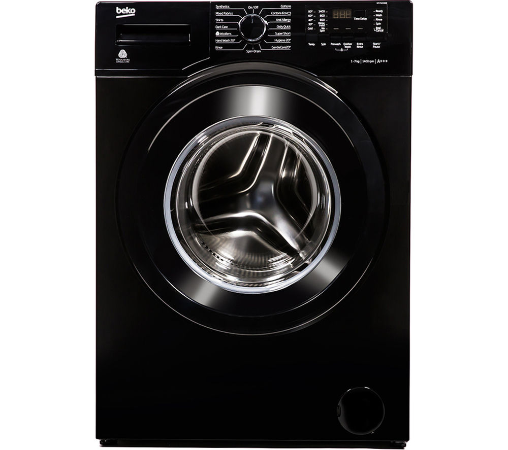 Image of BEKO WX742430B Washing Machine - Black, Black