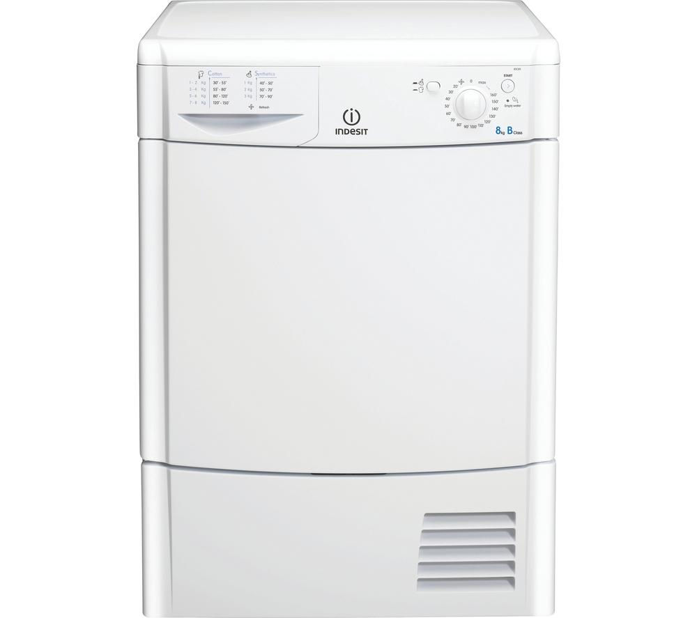 INDESIT Ecotime IDC8T3B Condenser Tumble Dryer – White