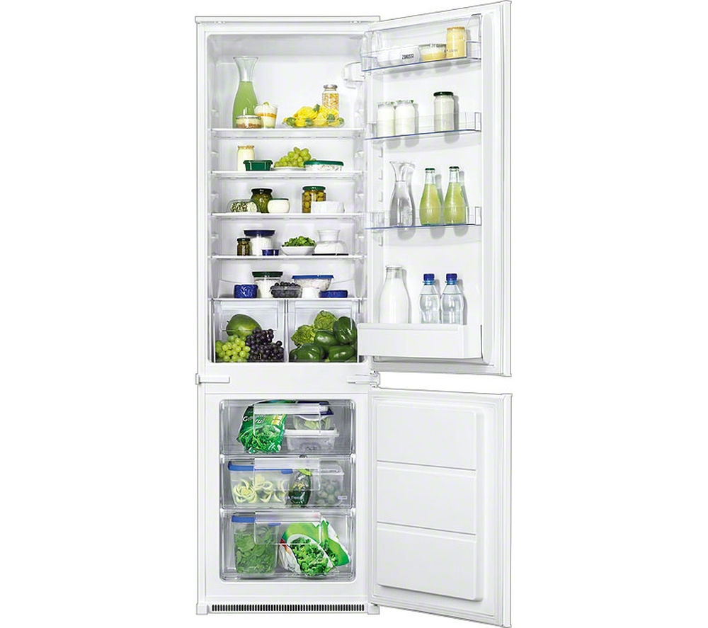 ZANUSSI  ZBB28441SA Integrated Fridge Freezer +  ZWI71401WA Integrated Washing Machine - White