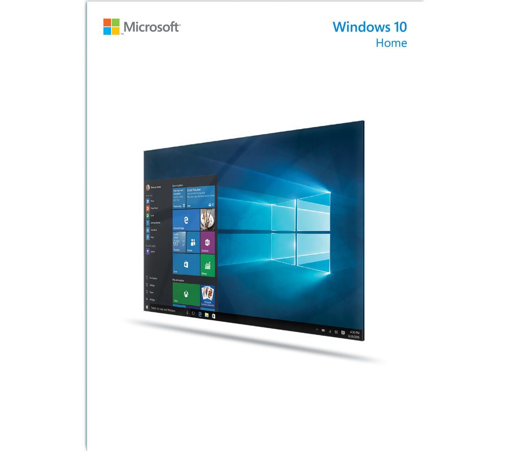 Buy microsoft windows 10 home free delivery currys for Purchase home windows