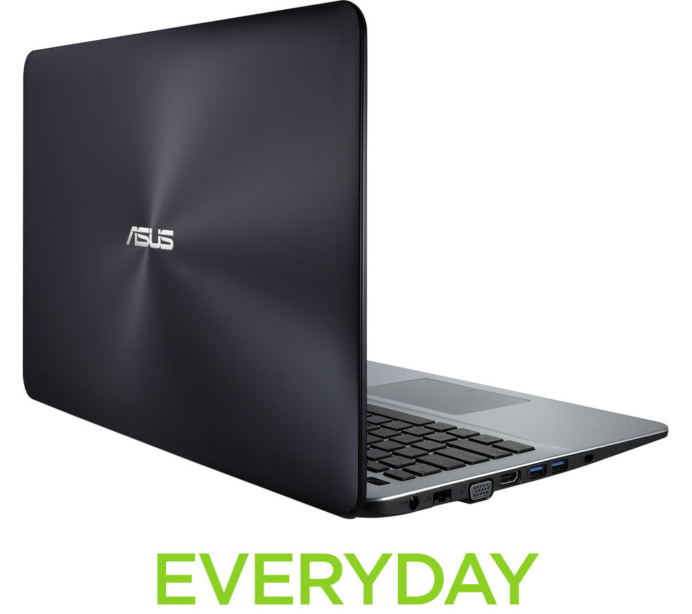 """Image of Asus Intel X555UA 15.6"""" Laptop - Black"""
