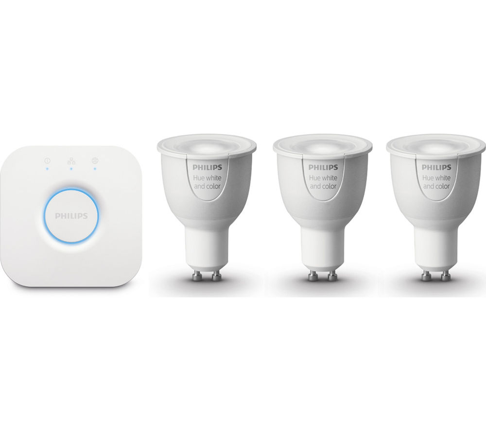 Philips hue wireless bulbs starter kit gu10 deals pc world - Philips hue starter kit ...