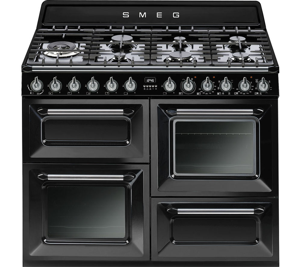 buy smeg victoria tr4110bl1 110 cm dual fuel range cooker. Black Bedroom Furniture Sets. Home Design Ideas