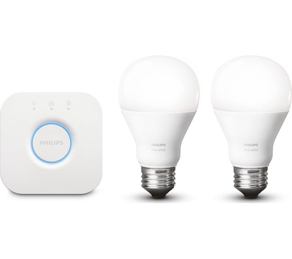 PHILIPS Hue White Wireless Bulbs Starter Kit - E27