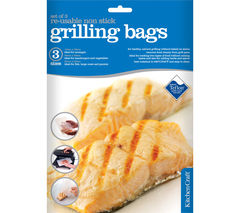 KITCHEN CRAFT Non-Stick Grilling Bags - Pack of Three