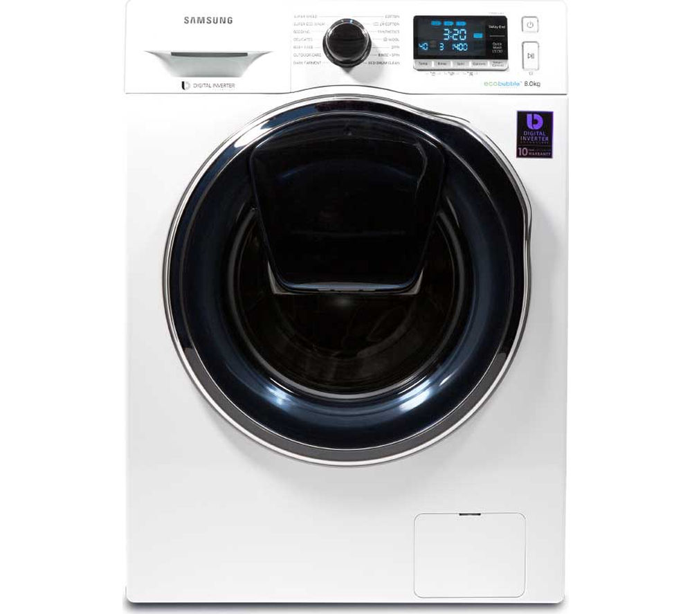 Image of Samsung AddWash WW80K6414QW Washing Machine - White, White